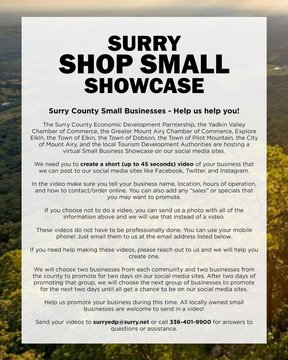 SURRY SHOP SMALL SHOWCASE! #shopsmall #surrycounty #lovelocal