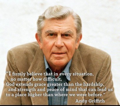 Wise words from Andy Griffith that certainly apply today. Continued thoughts and prayers for everyone as we are all being affected in some way by the COVID-19 Pandemic.