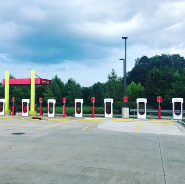 Tesla Superchargers-Charging Stations located at Sheetz Gas Station in Mount Airy for our locals and visitors. Located just 3.3 miles from downtown Mount Airy/ Mayberry open 24/7 and directly off Interstate 74. Located inside is a plethora of brochures on
