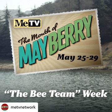Posted @withregram • @metvnetwork The final week of the Month of Mayberry is The Bee Team! Catch some of the best episodes with the colorful characters of Mayberry, including Aunt Bee, Gomer, Otis, and the rest!  Check website in bio for full schedule. #v