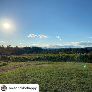 We agree we love that view as well of Skull Camp Mountain! Posted @withregram • @bikedrinkbehappy Without a doubt the best view in Surry County NC is at Round Peak Winery! #ncwines #yadkinvalleync #mayberrytomerlot