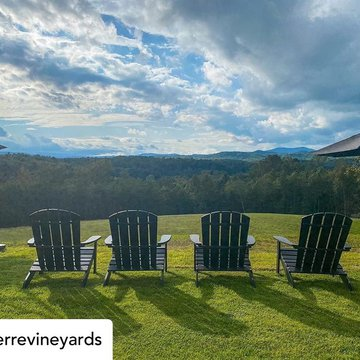 Posted @withregram • @serrevineyards Grab a glass of wine and take a front row seat for the changing of the leaves. 🍁 They don't call it the most magical time of the year for nothing. . . . #ncbusiness #mountairy #mountairync #mayberry #mayberrync #nc #mo