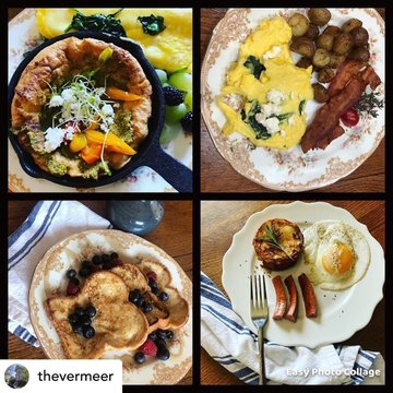 Posted @withregram • @thevermeer Let's talk breakfast! Sweet or savory, The Vermeer Bed and Breakfast has you covered with farm to table, stick  to your ribs breakfasts to get your day going. #breakfast #farmtotable #farmtofork #savorybreakfast #sweetbrea