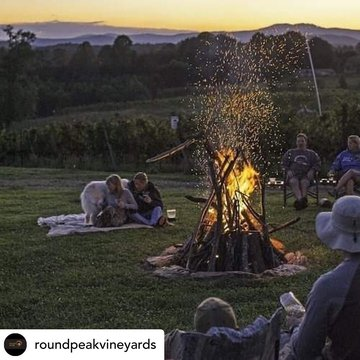 Posted @withregram • @roundpeakvineyards We still have a few spots left at our Camp Out this October 17th, get em while you can!  Tickets at Roundpeak.com #mayberrytomerlot #visitmayberry #ncwines #yadkinvalleync